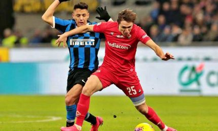 Inter in semifinale Coppa, battuta Fiorentina 2-1