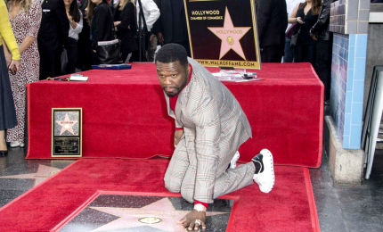 Stella sulla Walk of Fame di Hollywood per il rapper 50 Cent