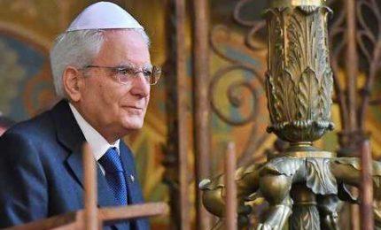 Mattarella in sinagoga: dagli ebrei contributo decisivo per Paese