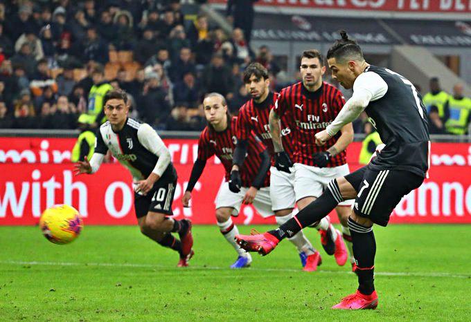 Ronaldo salva la Juve, 1-1 con il Milan