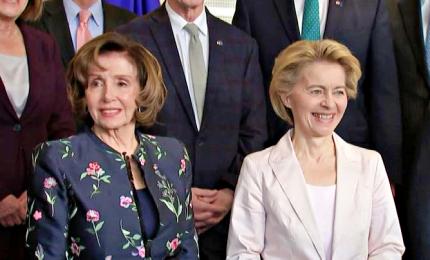 Von Der Leyen riceve la speaker della Camera Usa Nancy Pelosi