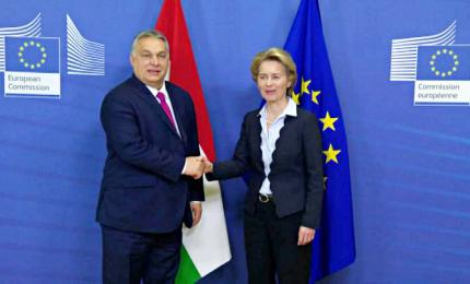 Orban a Bruxelles da Von der Leyen, poi tappa a Roma da Meloni