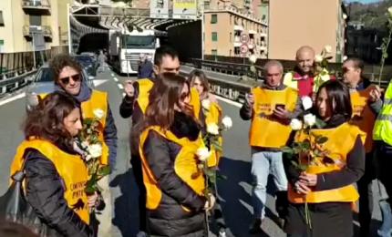 Ponte Morandi, familiari vittime bloccano casello Genova Ovest