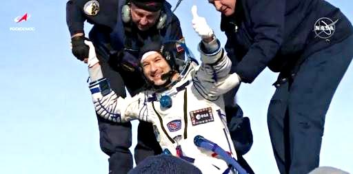 L'astronauta Luca Parmitano è rientrato sulla Terra
