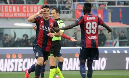 Il Bologna fa festa al 90', 2-1 al Brescia che resta ultimo