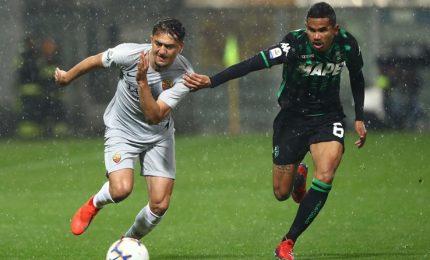 Roma travolta al Mapei, Sassuolo rifila il poker e s'impone 4-2