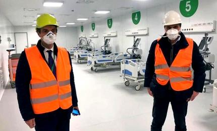 Inaugurato l'ospedale in Fiera Milano: otto padiglioni operativi