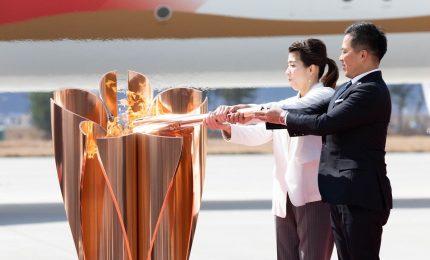 La Torcia di Tokyo 2020 arrivata in Giappone