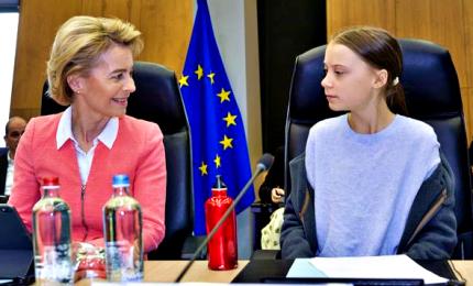 Commissione Ue vara la legge sul clima ma Greta la stronca