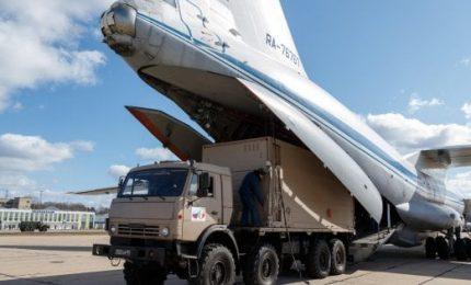A Bergamo un cargo russo con nuovi aiuti sanitari