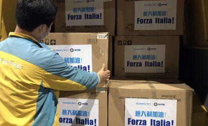 L'Inter dona 300mila mascherine alla Protezione civile