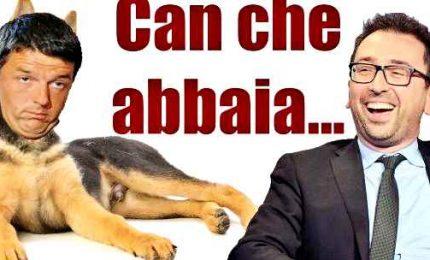 Un comunista in piazza con Salvini e Meloni. Renzi cane sdentato, il vaffa di Giarrusso