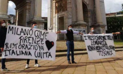 Nuova protesta dei ristoratori a Milano: non possiamo aprire