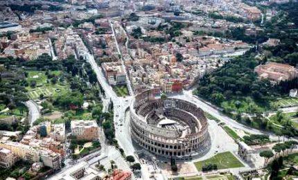 La Roma deserta del Primo maggio. Piazza San Giovanni vuota