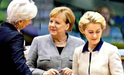 Merkel, Von der Leyen e Lagarde, la prima triade femminile in Ue