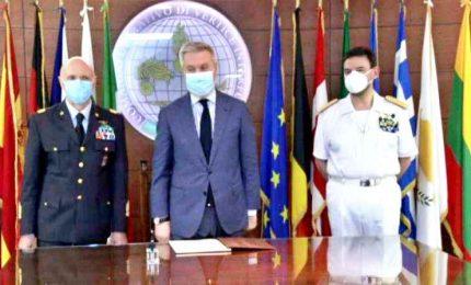 Difesa, Guerini visita la sede del comando di EUNAVFOR MED Irini