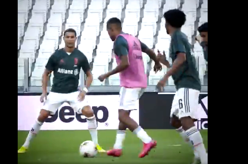 La Juve torna ad allenarsi allo Stadium dopo tre mesi