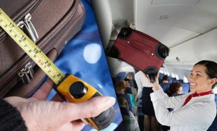 Fase 3, ok ai trolley nelle cappelliere degli aerei