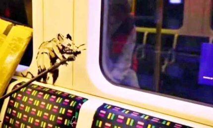 Covid 19, I topi di Banksy in metro Londra fanno pensare