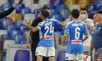 Napoli-Lazio 5-2, pokerissimo per la Champions