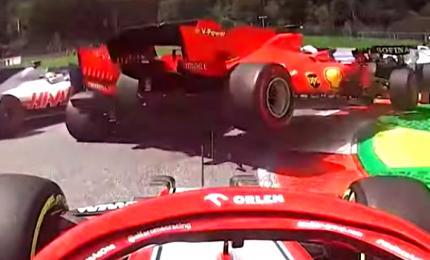 Disastro Ferrari, subito fuori Vettel e Leclerc