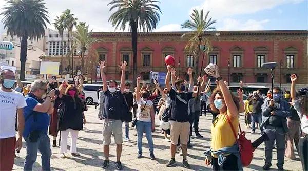 Prosegue a Palermo la mobilitazione dei lavoratori spettacolo