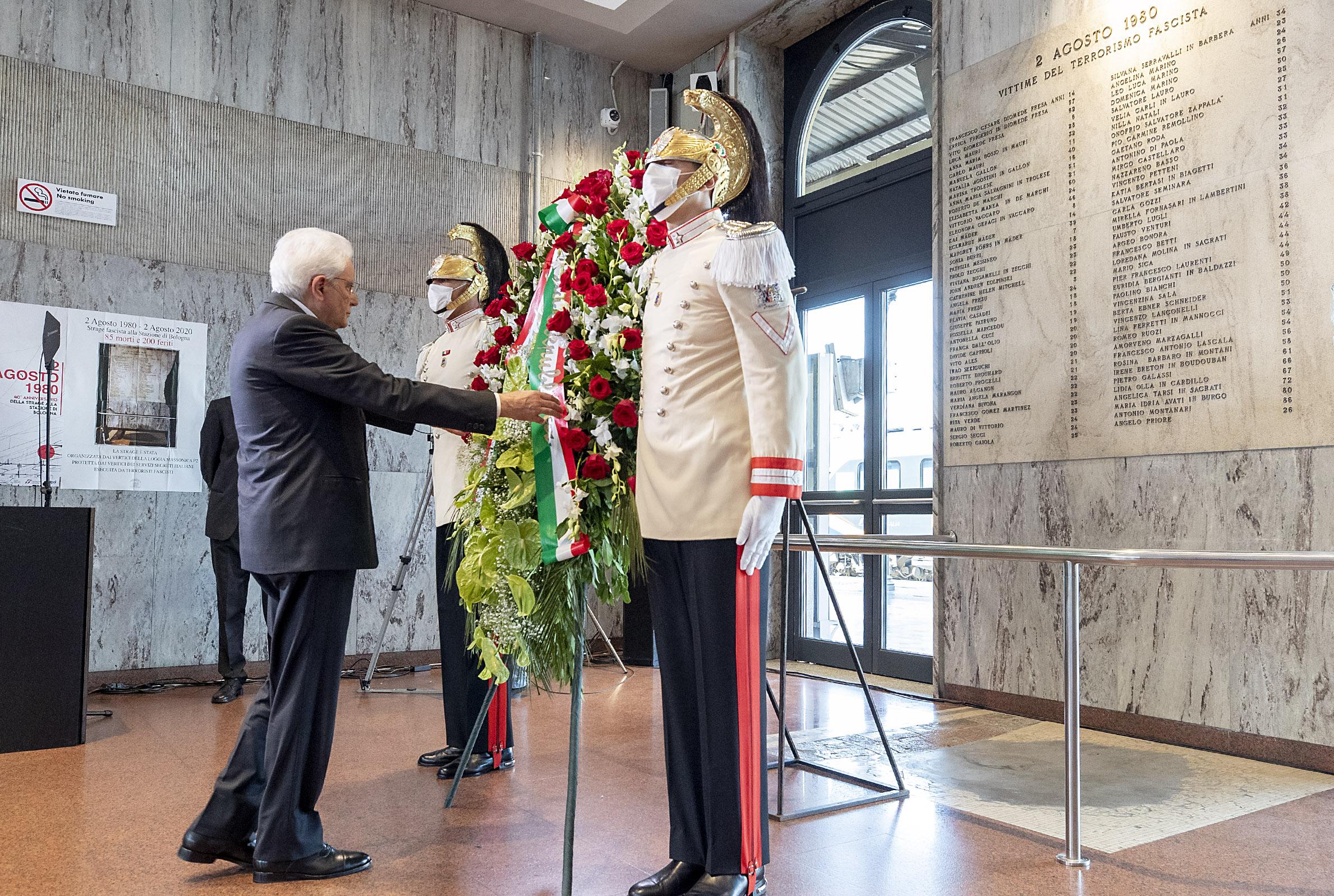 Mattarella ricorda stragi del 1980: dolore, memoria, verità piena