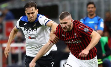 Milan-Atalanta 1-1, a Calhanoglu risponde Zapata