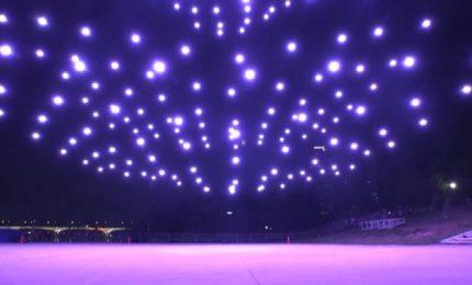 Spettacolo di droni nel cielo di Seoul, un messaggio di speranza