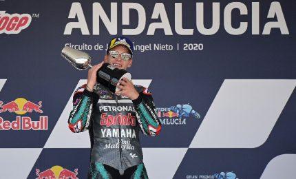 Quartararo vince Gp Andalusia, Rossi sale sul podio