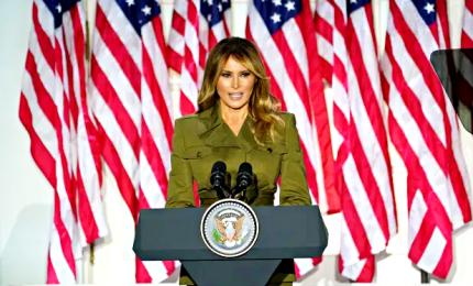 Usa 2020, Melania Trump ricorda le vittime virus e chiede unità