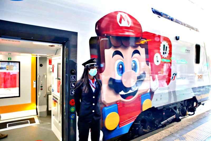 Arriva in Italia Lego Super Mario, grande festa con Trenitalia