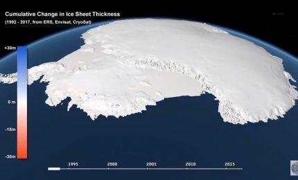 In 27 anni la Terra ha perso 28 miliardi di tonnellate di ghiaccio