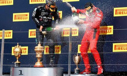 """Gp Gran Bretagna: vince Hamilton, Terzo Leclerc. """"Vittoria con il cuore in gola"""""""