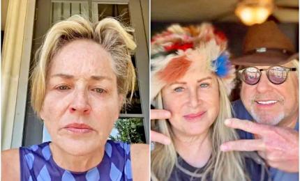 """Sharon Stone: """"Mia sorella ha il Covid, indossate la mascherina"""""""