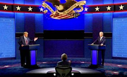 """Usa 2020, insulti e attacchi al primo dibattito tra Trump e Biden. """"Tu non sei intelligente"""". """"Tu sei un clown"""""""