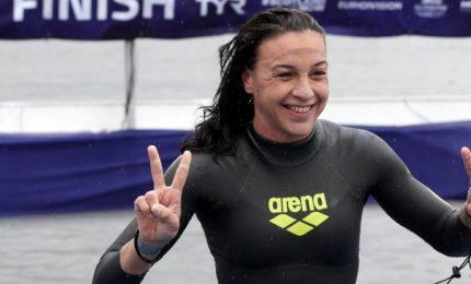 Arianna Bridi batte tutti alla Capri-Napoli, anche gli uomini