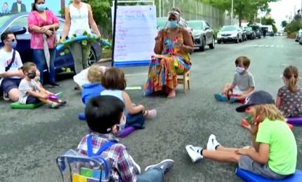 New York, esperimenti di scuola all'aperto contro il coronavirus
