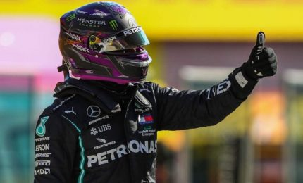 Gp Mugello: Hamilton in pole, Leclerc quinto