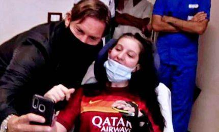 Totti in ospedale dalla calciatrice della Lazio uscita dal coma