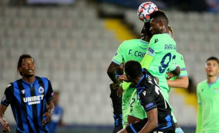 Champions: Lazio decimata, a Bruges resiste 1-1