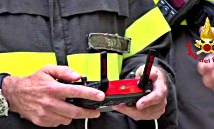 Maltempo, droni Vigili del Fuoco al lavoro su messa in sicurezza
