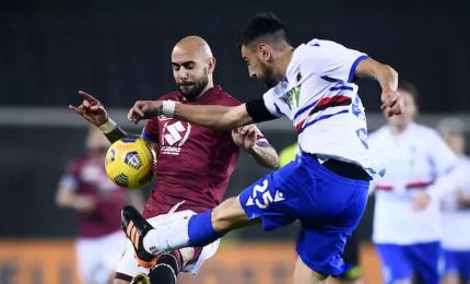 Torino-Sampdoria 2-2, Meité riagguanta i blucerchiati