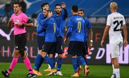 Italia-Estonia 4-0 in amichevole, doppietta di Grifo poi Bernardeschi e Orsolini