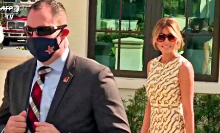 Usa 2020, Melania Trump ha votato a Palm Beach senza Donald e senza mascherina
