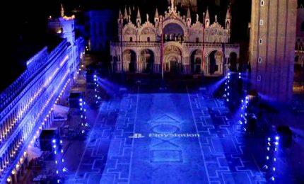 Sony lancia Playstation 5: giochi di luci a San Marco a Venezia attraverso la Floor Projection di 2400 metri quadri