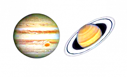 La spettacolare congiunzione astrale tra Giove e Saturno