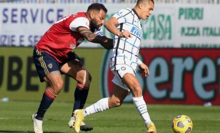 Cagliari-Inter 1-3, i nerazzurri ribaltano il match