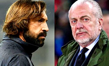 """De Laurentiis: """"Pirlo? Non commenti sentenze, faccia l'allenatore e basta"""""""