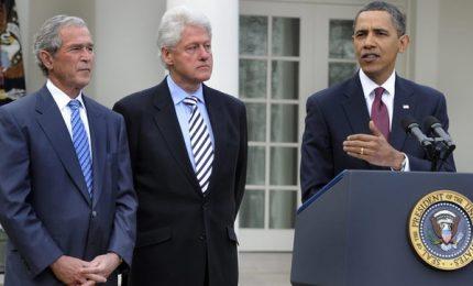 Covid-19: Obama, Bush e Clinton si faranno vaccinare in pubblico